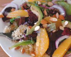 Quinoa Salad with Oranges, Avocado, and Almonds Recipe - RecipeChart.com