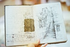 Art Journal (searching for artist) Sketch Journal, Artist Journal, Artist Sketchbook, Sketchbook Pages, Art Journal Pages, Art Journals, Moleskine, Drawing Sketches, Drawings
