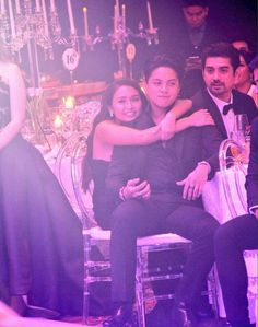 This is the handsome Daniel Padilla and the pretty Kathryn Bernardo smiling for the camera while sitting at their table at the 2016 Star Magic Ball held last October 22, 2016 at the Shangri-La Hotel in Makati City. Indeed, KathNiel is my favourite Kapamilya love team and Star Magic talents. #KathrynBernardo #TeenQueen #DanielPadilla #KathNiel #KathNielBernaDilla #StarMagicBall #StarMagicBall2016