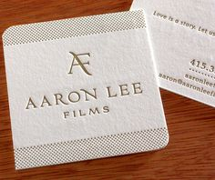51 best business cards images on pinterest business cards carte letterpress business card for bay area wedding cinematographer two sided double thick custom reheart Image collections