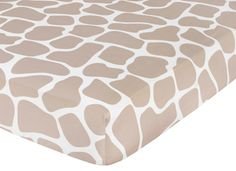 This Bedding MUST be in the nursery! lol omg im so in love!!  Giraffe Baby or Toddler Fitted Crib Sheet Taupe Print