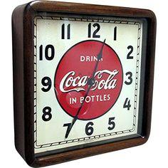 Coca Cola Advertising Wall Clock @rubylanecom #RLVintageKitchen