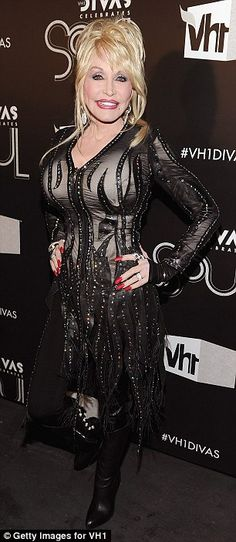 Dolly Parton arriving at the VH1 Divas Celebrates Soul event in New York