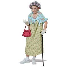 Old Lady Child Costume Kit - 408213 | trendyhalloween.com