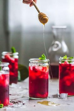 Raspberry Hibiscus Iced Tea Recipe | The Almond Eater