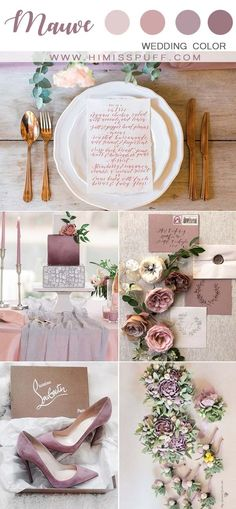 Dusty purple wedding ideas mauve wedding cake with candels mauve shoes and invitations you will love in your wedding inspo invitations Lilac Wedding Themes, Mauve Wedding, Wedding Color Schemes, Wedding Colors, Wedding Ideas, Wedding Planning, Trendy Wedding, Wedding Inspiration, Anemone Wedding