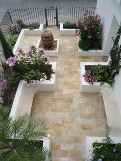 Spanish Courtyard Garden designed by Rachel Mathews Small City Garden, Small Courtyard Gardens, Small Courtyards, Big Garden, Small Garden Design, Small Gardens, Dream Garden, Outdoor Gardens, Courtyard Ideas