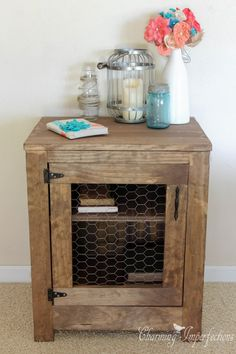 This nightstand could be from Restoration Hardware or Pottery Barn, but it's actually a DIY! Get the full, detailed plans now.                                                                                                                                                                                 More