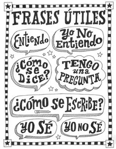 Frases en español ~Frases ~Spanish poster ~worksheet ~word wall Bulletin board