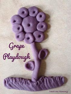 Grape Playdough - Teach Me Mommy