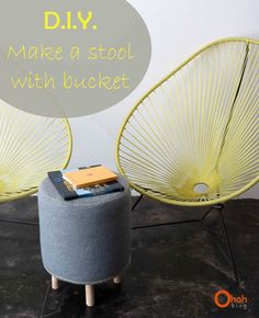 Make a stool with paint bucket • Recyclart