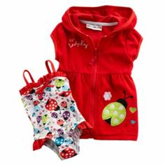 Wipette Ladybug One-Piece Swimsuit & Cover-Up Set - Baby Kohl's $30.80.