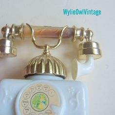 Vintage Avon French Telephone Perfume and Bath Oil Bottle