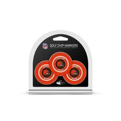 Cleveland Browns Golf Chip with Marker 3 Pack
