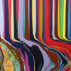 wgsn:  Great merged colour at Art Basel Miami. Credit: Analogue by Ian Davenport, 2013