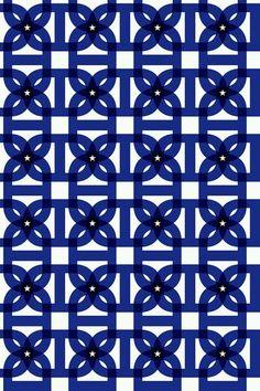 Moody blue pattern in navy