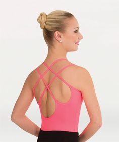 70d80df63db Body Wrappers  Camisole Leotard With Interwoven Double Spaghetti Shoulder  Straps