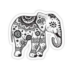 Mandala Indian Elephant Tattoo Stencil By Más Elephant Outline, Elephant Colour, Elephant Tattoo Design, Design Tattoo, Elephant Tattoos, Tattoo Designs, Mandala Elephant Tattoo, Elephant Design, Baby Elephant