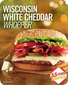 Although the entire menu at Sonic is my favorite, I do stop at Burger King on occasion, especially when they have something like this on the menu.