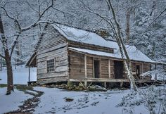 Winter At The Ogle Cabin Photograph