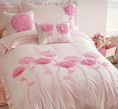 Most Popular Girls' Bedding Sets Pink Bedding Set, Girls Bedding Sets, Luxury Bedding Sets, Girl Bedding, Comforter Sets, Girls Bedroom, Bedrooms, Floral Bedroom, Pink Quilts
