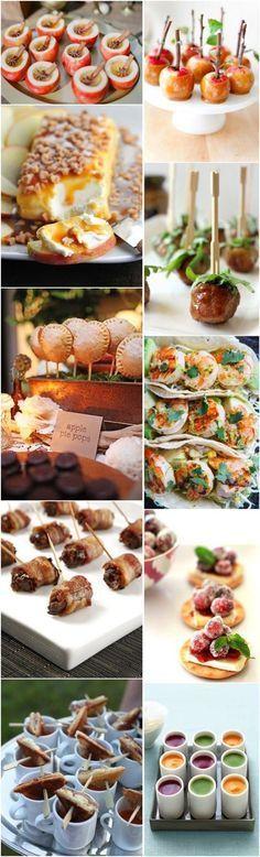 fall wedding food ideas-fall wedding appetizers