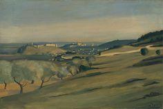 André DERAIN (1880-1954) français, Paysage en Provence, c. 1930 Huile sur panneau bercé. 14 7/8 x 21 5/8 po (37,8 x 55 cm)