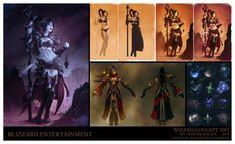 Trent Kaniuga - Diablo 3 Wizard Concept Art