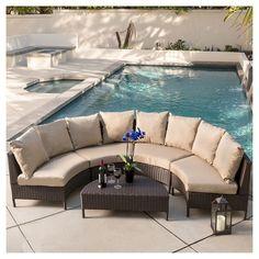 Christopher Knight Home Newton 5-piece Wicker Patio Lounge Set : Target