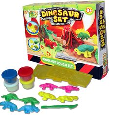 LARGE DINOSAUR PLAY DOUGH DOH CRAFT CLAY SET TUBS SHAPES CHILDRENS MODELLING TOY | eBay