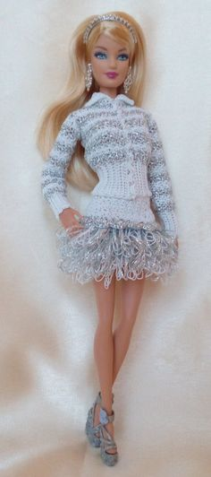 PDF Dress Silver Ice by Barbiecrochet on Etsy