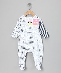 Take a look at this Blue Polka Dot Turtle Footie - Infant by Rumble Tumble on #zulily today!