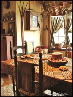 Prim Dining Room. Primitive ...