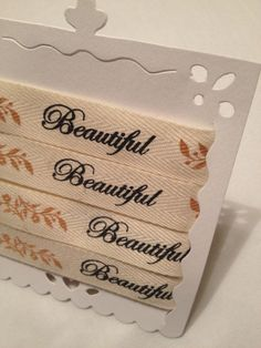 Beautiful Cotton Ribbon by MonAmiePaperie on Etsy, $2.44