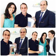 El Dr. José Luis Lanuza recibió, de los representantes de la compañía Invisalign,  el reconocimiento por su contribución al avance en el campo de la ortodoncia Invisalign con la distinción de GOLD, acompañado de la Dra. Lucía Asensio. #clinicadentalasensio  #diseñamossonrisas   #sonrisashollywood #invisaligngoldprovider