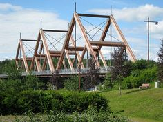 Vihantasalmi wooden bridge, just east of Helsinki, Finland