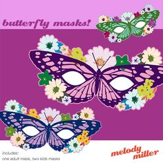 Butterfly Masks Printable