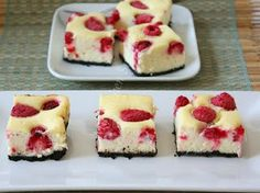 My Kitchen Snippets: Raspberry Cheesecake Slice