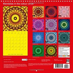 Mandalas in the colour circle Wall Calendar 2016 300 × 300 mm Square : Mandalas for every month in a colour of the colour circle Monthly calendar, 14 pages Calvendo Art: Amazon.de: Christine Bässler: Fremdsprachige Bücher