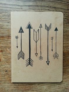 Aztec Arrows Mini Hand Drawn Notebook by LuciesLittleCrafts, £5.50