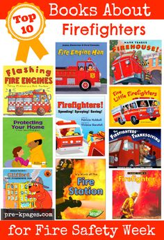 Pre-K books to read. Best Firefighter Pre-K and Kindergarten books. A list of favorite books to build background knowledge about firefighters for preschool, pre-k, and kindergarten classrooms Kindergarten Books, Preschool Books, Preschool Lessons, Preschool Activities, Dc Fire, Fire Safety Week, Fire Prevention Week, Community Helpers Preschool, Pre K Pages