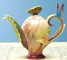 another butterfly tea pot