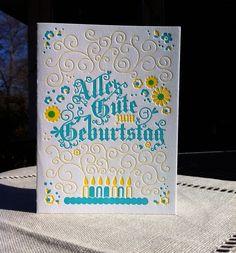 Gorgeous German Birthday Card Letterpress Stationary Cards Ideas Random Stuff