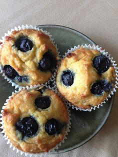 Paleo Coconut Lemon Blueberry Muffins by hodgepodgegallery #Muffins #Cocnut #Lemon #Blueberry #Paleo