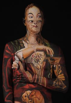 Ultimate Facepainting: Historical Paintings Recreated on Human Skin by Chadwick & Spector #surreal