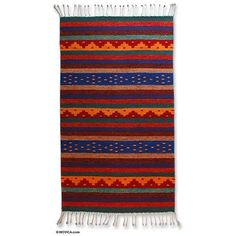 NOVICA Zapotec wool rug (2x3.5) ($67) ❤ liked on Polyvore featuring home, rugs, decor, 2x3 and smaller, area rugs, home decor, mexican & zapotec wool rugs, weave rug, multi-colored rug and woven rug