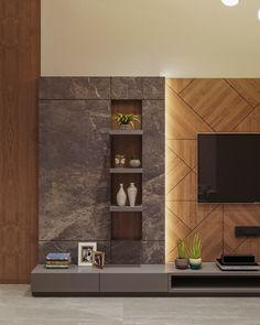 Tv Unit Interior Design, Tv Unit Furniture Design, Living Room Partition Design, Living Room Tv Unit Designs, Tv Unit For Living Room, Tv Cabinet Design, Tv Wall Design, Foyer Design, Modern Tv Wall Units