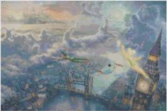 Peter Pan flying over London Cross Stitch by CSDesignsbyLeah, $5.00