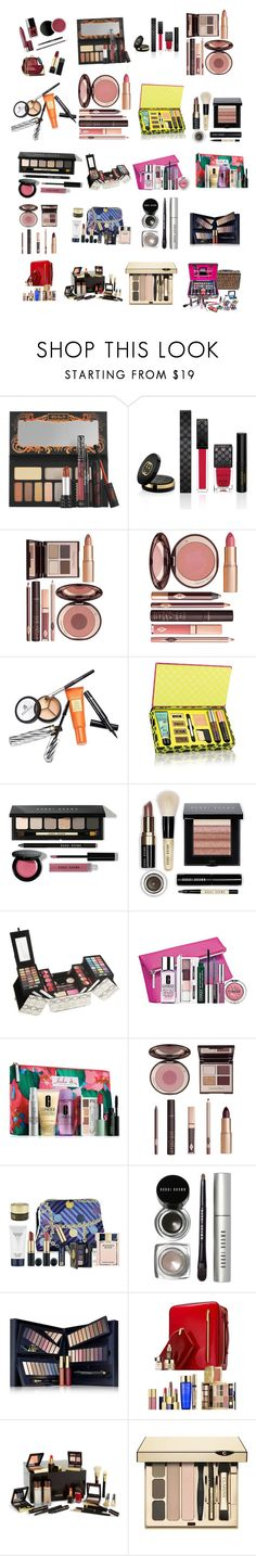 """""""Make up"""" by megatron10 ❤ liked on Polyvore featuring beauty, Kat Von D, Gucci, Charlotte Tilbury, Borghese, Bobbi Brown Cosmetics, Clinique, Estée Lauder, Tom Ford and Clarins"""