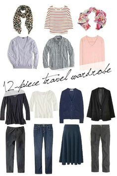 Traveling this spring? Want to pack smarter and lighter? Here's a 12-piece wardrobe that should have you covered for just about any venue. | une femme d'un certain âge - style, travel, lifestyle and a delicious life over 50